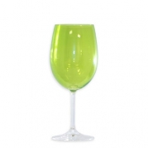 Roma Goblet Glass Lime 16oz