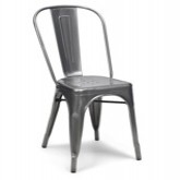 Metal Tolix Bistro Chair Gunmetal