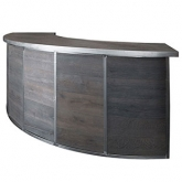 1/4 Curved Barn Wood Bar