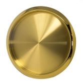 Brushed Gold Tray Round 15.5