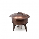Hammered Copper Chafing Pot 3Qt