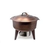 Hammered Copper Chafing Pot 6Qt