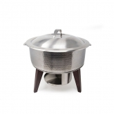 Hammered Stainless Chafing Pot 6Qt
