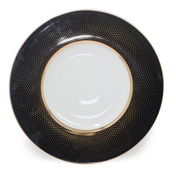 Radial Black Gold Dinner Plate 11.5