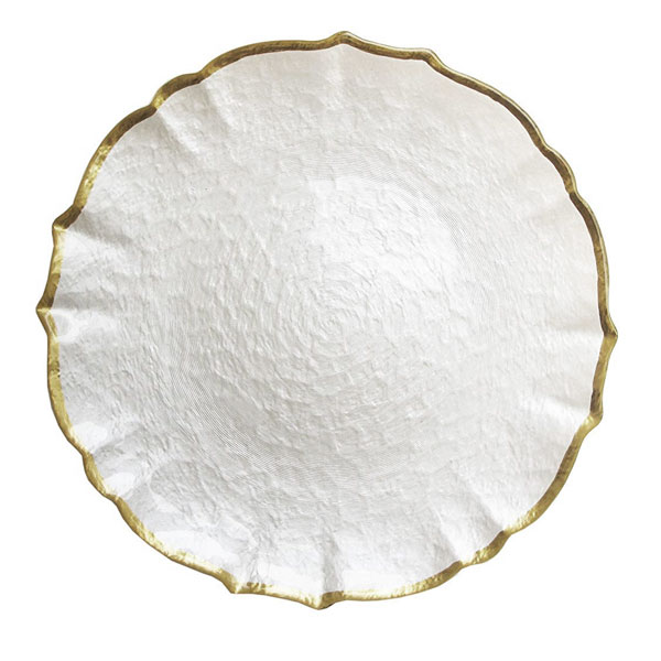 Pearl Gold Glass Tray 12.5
