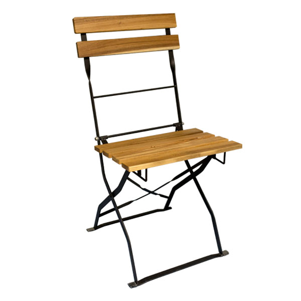 Walnut Garden Folding Chair