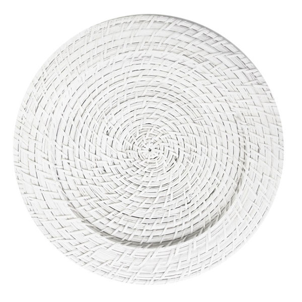 White Wicker Charger 13