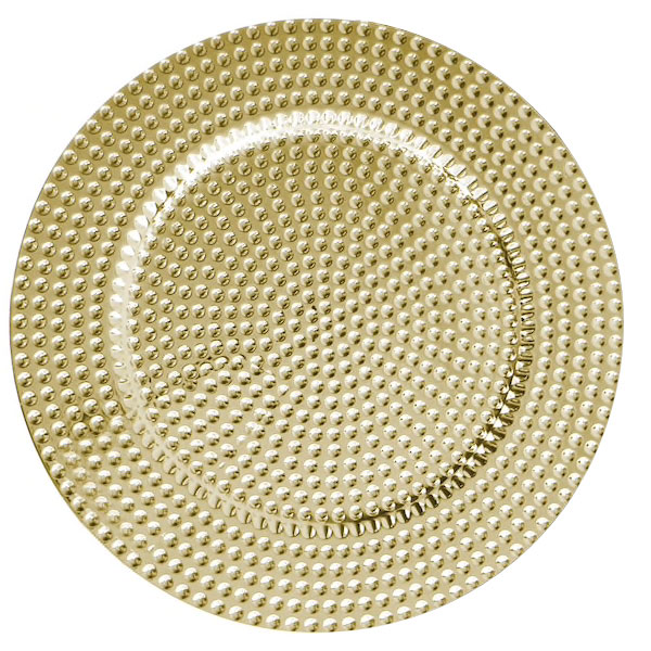 Gold Dot Lacquer Charger 13